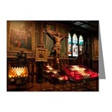 Crucifix on the altar Note Cards (10 Pack)