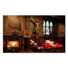 Crucifix and side altar, Notre Decal