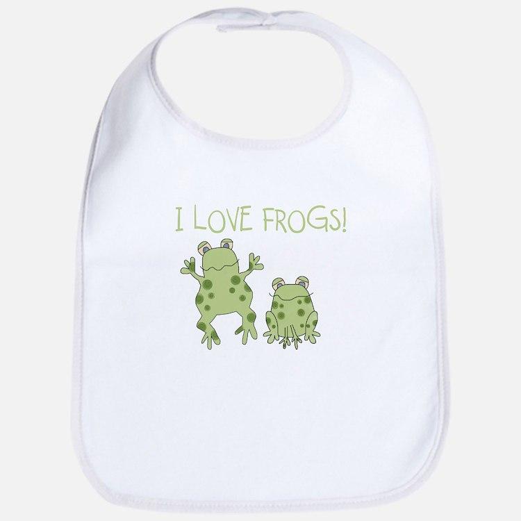 I Love Frogs Bib