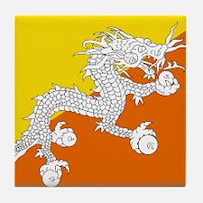 Bhutanese flag Tile Coaster