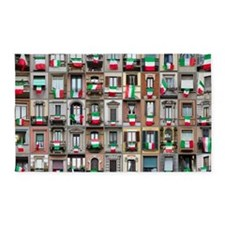 Windows and tricolor flags 3'x5' Area Rug