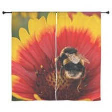 "Bee on flower 60"" Curtains"