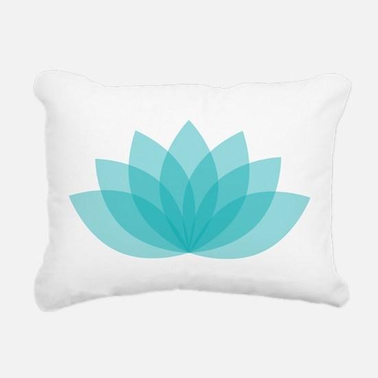 Lotus Blossom Rectangular Canvas Pillow