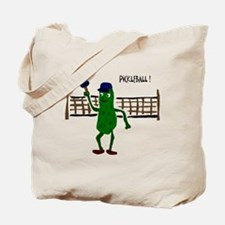 Pickle Playing Pickleball Tote Bag