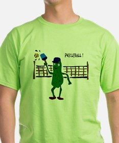 Pickle Playing Pickleball T-Shirt