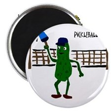Pickle Playing Pickleball Magnet