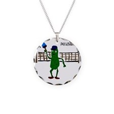 Pickle Playing Pickleball Necklace