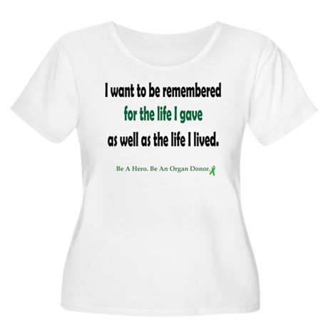 Life Given Women's Plus Size Scoop Neck T-Shirt
