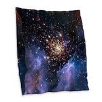 Starburst Cluster Burlap Throw Pillow