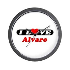 I Love Alvaro Wall Clock