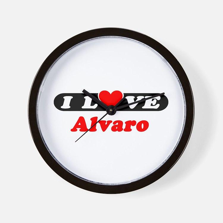 I Love Alvaro Wall Clock