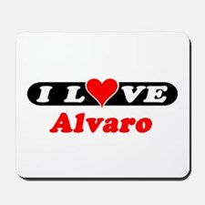 I Love Alvaro Mousepad