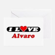I Love Alvaro Greeting Cards (Pk of 10)