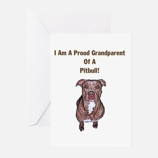 Proud Pitbull Grandparent Greeting Cards (Package