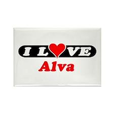 I Love Alva Rectangle Magnet