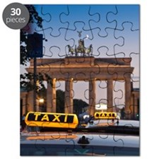 Close up of taxi signs on cabs Puzzle
