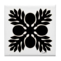 Hawaiian Quilt Breadfruit Tile Coaster