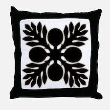 Hawaiian Quilt Breadfruit Throw Pillow