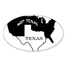 Texas / Not Texas Oval Decal