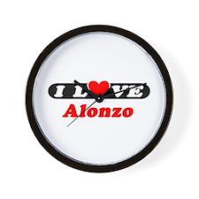I Love Alonzo Wall Clock