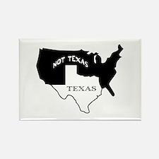 Texas / Not Texas Rectangle Magnet