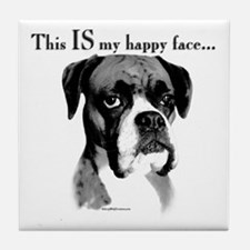 Boxer Happy Face Tile Coaster