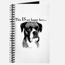 Boxer Happy Face Journal