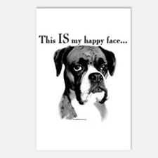 Boxer Happy Face Postcards (Package of 8)