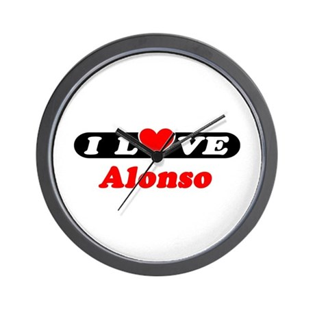 I Love Alonso Wall Clock