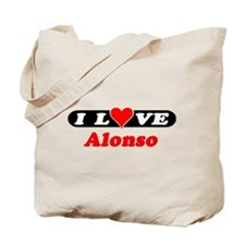 I Love Alonso Tote Bag