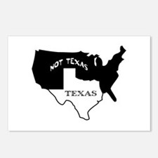 Texas / Not Texas Postcards (Package of 8)