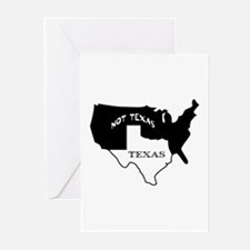 Texas / Not Texas Greeting Cards (Pk of 10)