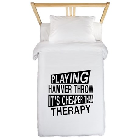Awesome Hammer throw Player Desig Twin Duvet Cover