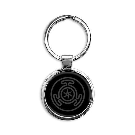 Hecate's Wheel Round Keychain