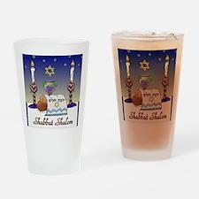 Judaica Shabbat Shalom Drinking Glass