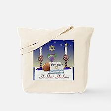Judaica Shabbat Shalom Tote Bag