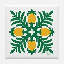 Hawaiian Quilt Pineapple Tile Coaster