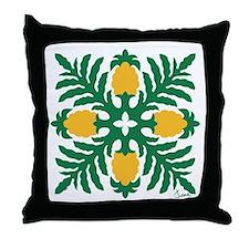 Hawaiian Quilt Pineapple Throw Pillow