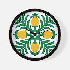 Hawaiian Quilt Pineapple Wall Clock