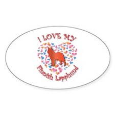 Love Lapphund Oval Decal