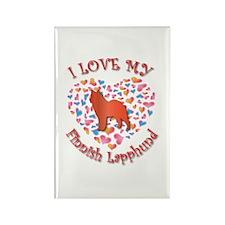 Love Lapphund Rectangle Magnet (10 pack)