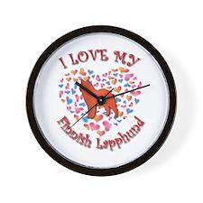 Love Lapphund Wall Clock