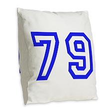 #79 Burlap Throw Pillow