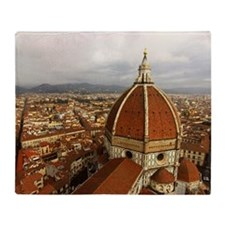 Brunelleschi's dome in Florence Throw Blanket