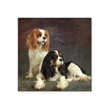 "Two spaniels Square Sticker 3"" x 3"""