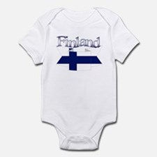 Finlad flag ribbon Infant Bodysuit