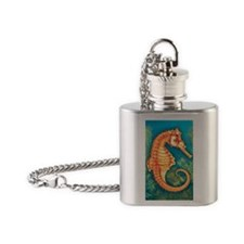 Illustration of Seahorse Flask Necklace