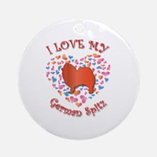 Love Spitz Ornament (Round)