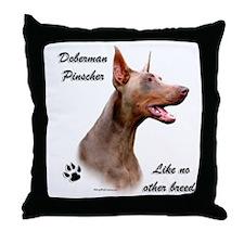 Dobie Breed Throw Pillow