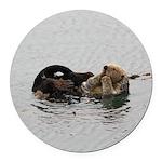 California Sea Otter Round Car Magnet